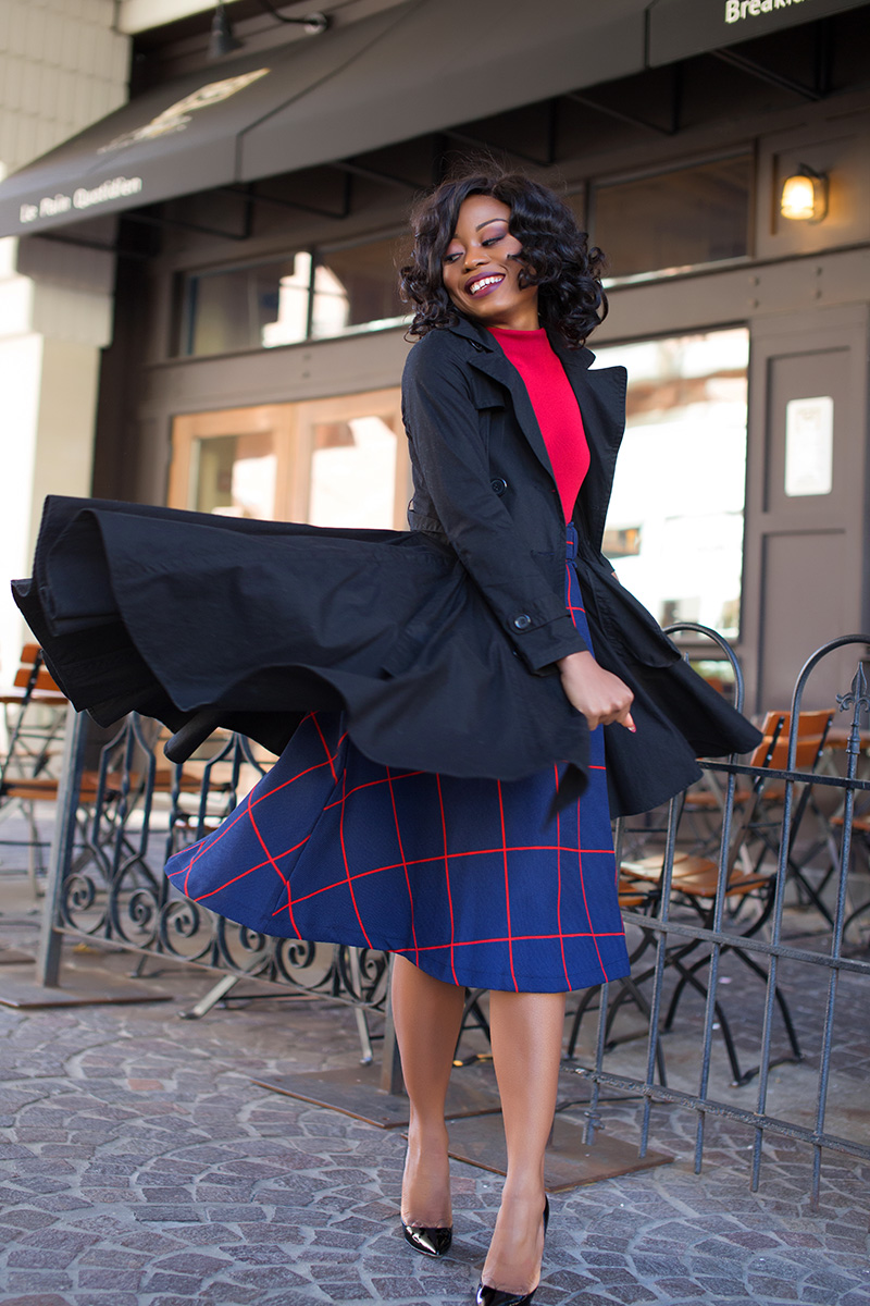holiday work event, midi plaid skirt, www.jadore-fashion.com