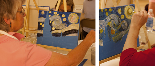 Atascadero Art Classes, Art and Wine, Starry Night Painting Classes