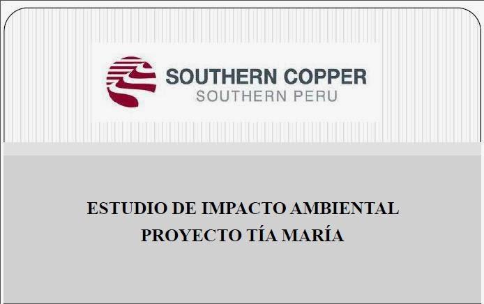 Resumen Ejecutivo del EIA del Proyecto Tia Maria