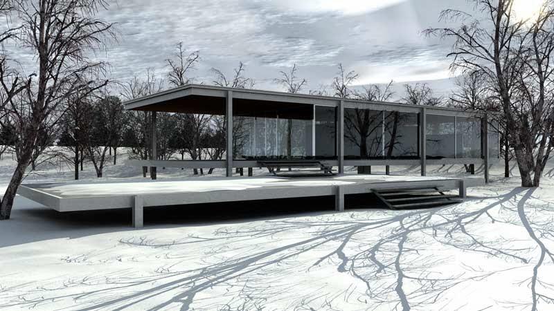 Arquitectura y cine el cielo sobre berl n sol studio - Casa farnsworth ...