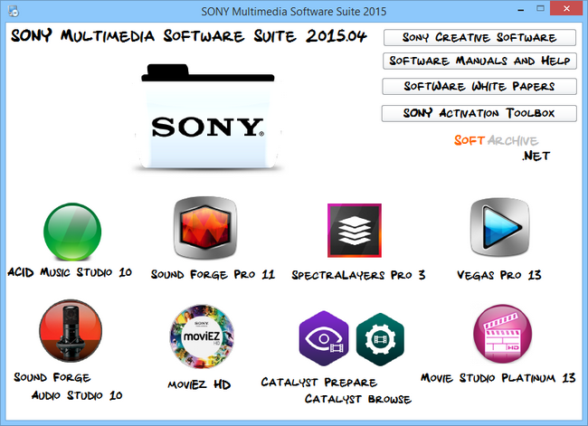 SONY Multimedia Software Suite 2015.04 Multilingual