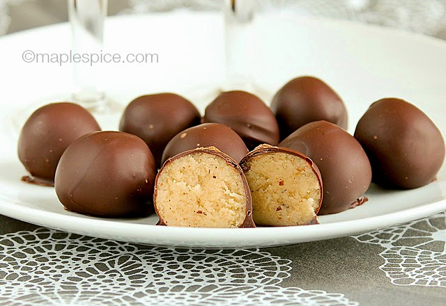 Frangelico Hazelnut Butter Truffles - vegan recipe