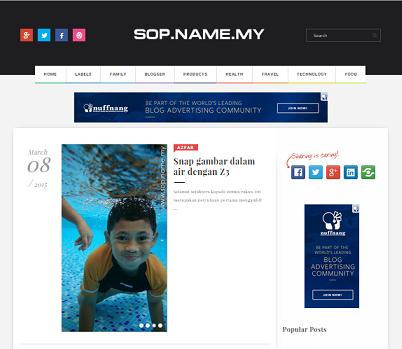 Template baru SOP.NAME.MY tahun 2015