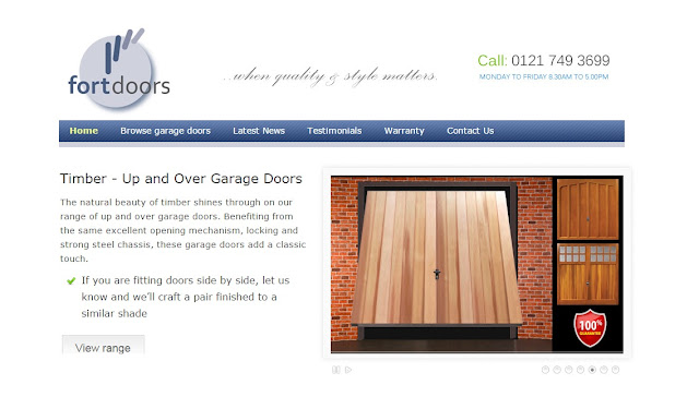 View garage doors online, click on the new website from Fort Doors