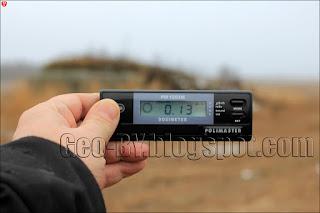 Измерение радиационного фона у ДОТ 266