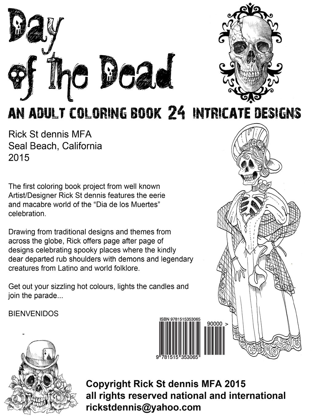 monique dia de los muertos coloring book by rick st dennis
