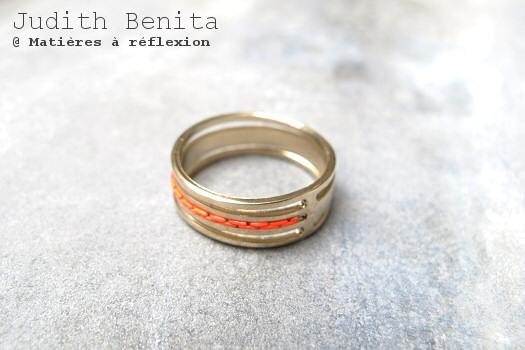 Bague rouge fluo Judith Benita