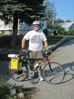 Jonathan with his newly converted e-bike