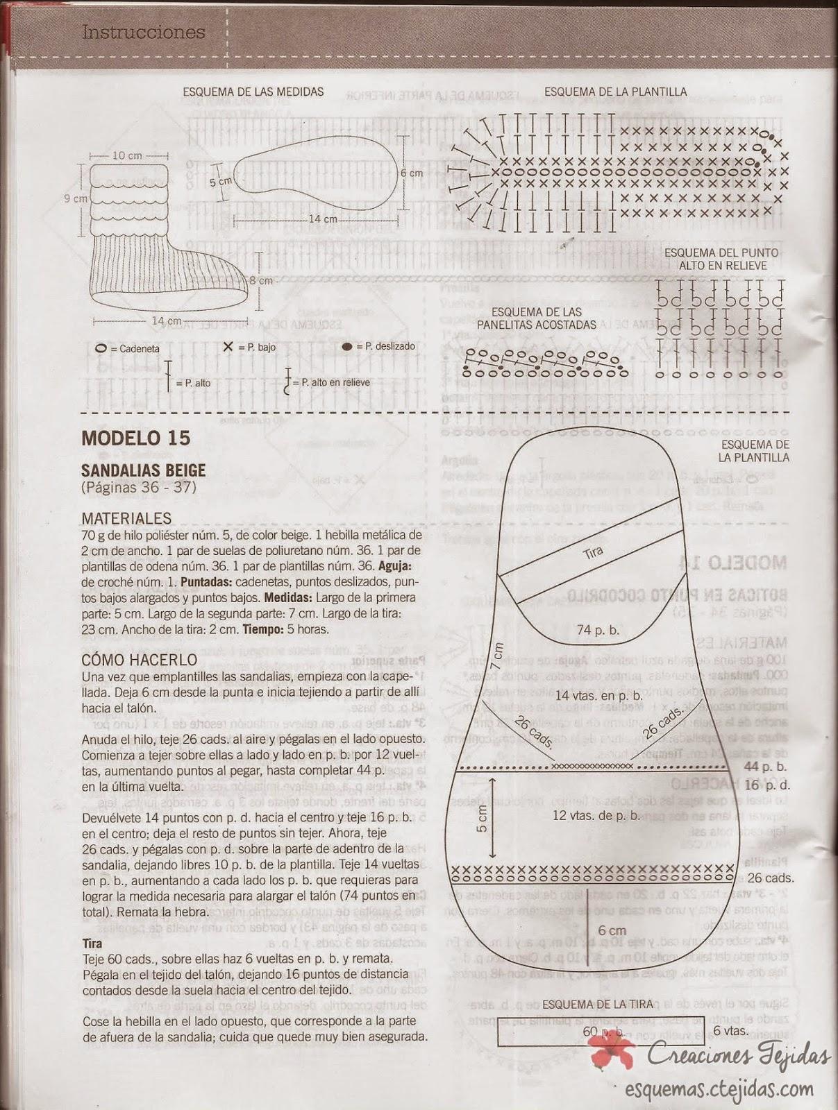 Zapatos a Crochet - Sandalias Beige