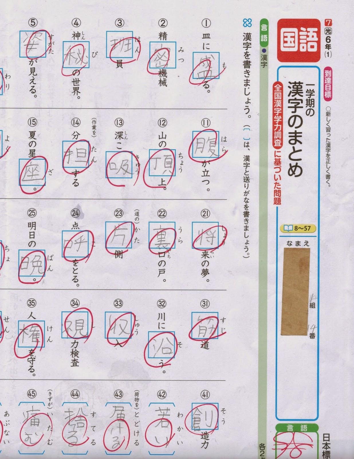 ... 成果と、漢字学習の次なる課題
