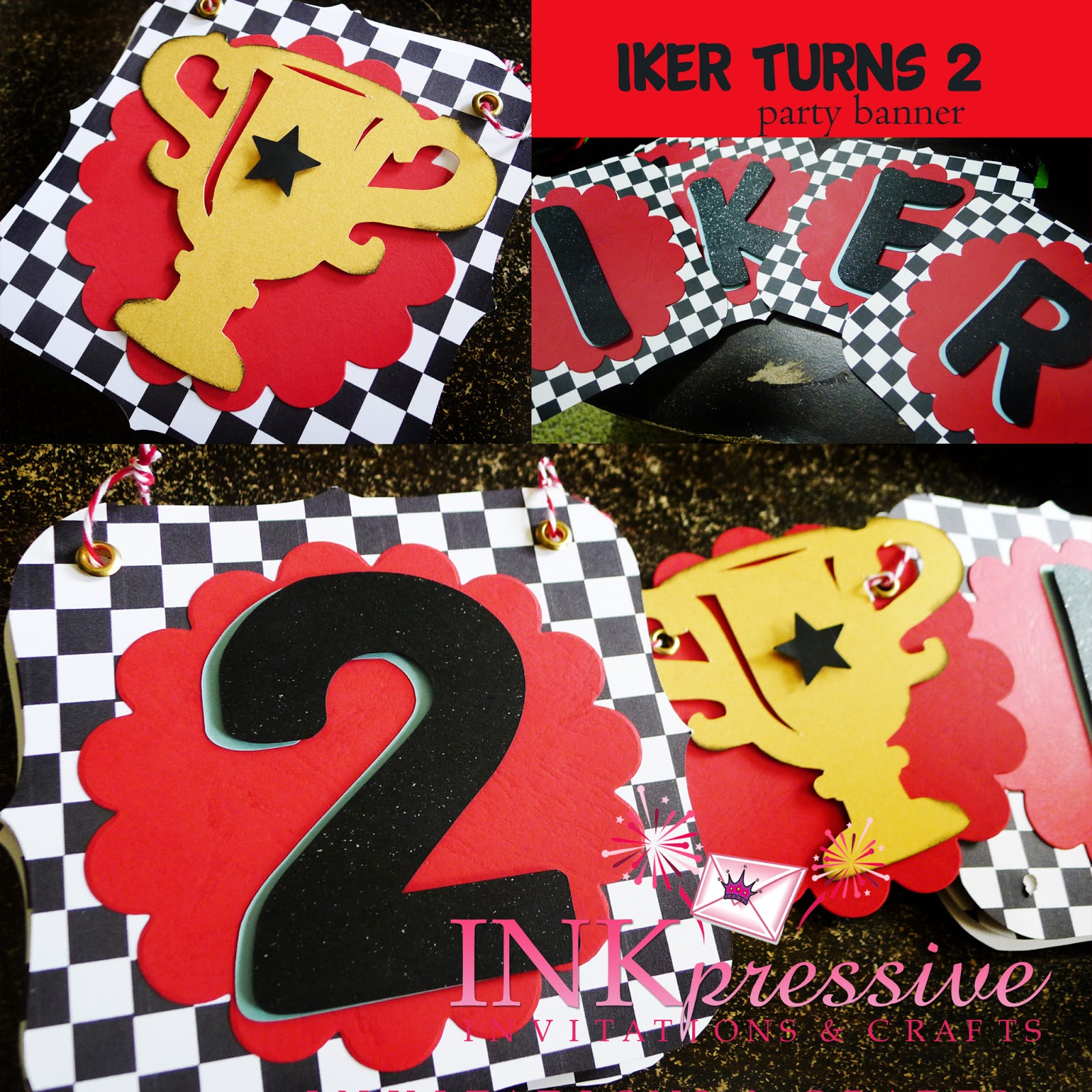 Ferrari Racing Theme Personalized Party Banner and Guest Book