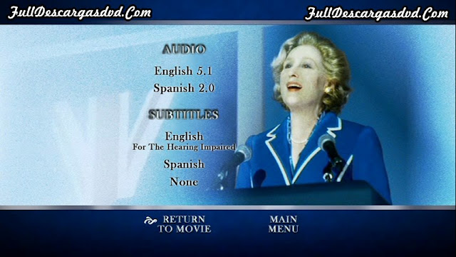 The Iron Lady DVDR NTSC Español Latino Descargar 2011