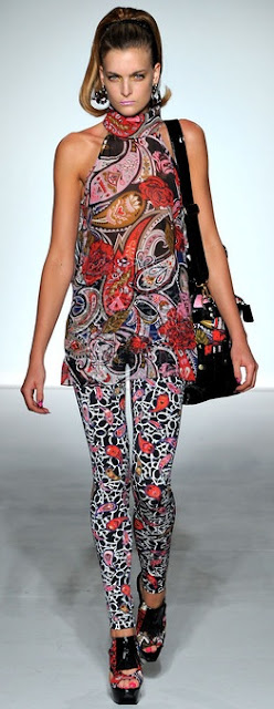 paisley flared top print leggins ppq ss 2013