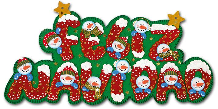 Mis Manualidades y mas: Aviso Feliz Navidad