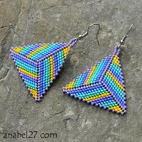 схемы плетения треугольников из бисера peyote triangle pattern