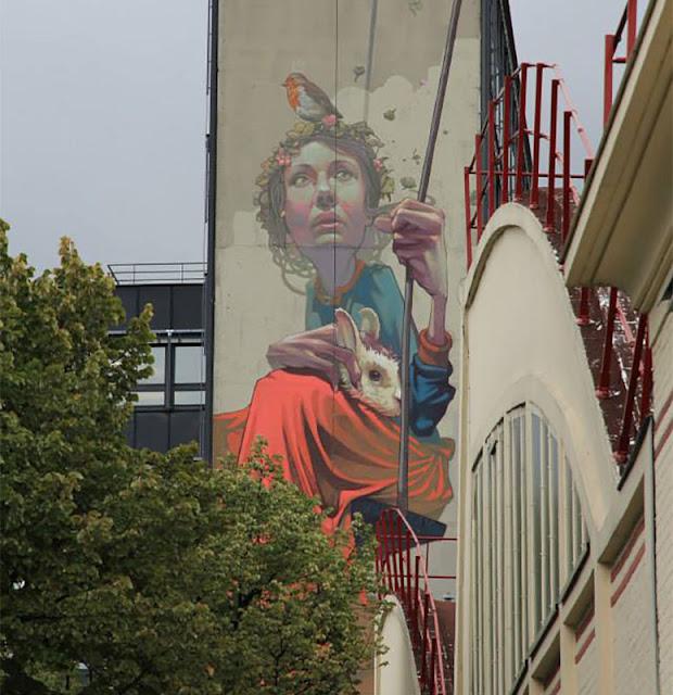 Street Art By Polish Muralist Sainer From Etam Cru In Paris, France. 1