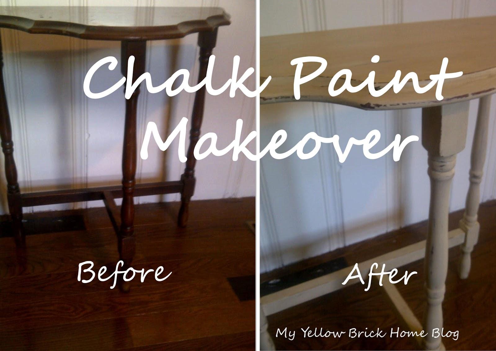 Brick home love chalk paint makeover