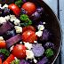 Salade van truffelaardappelen en blauwe kaas