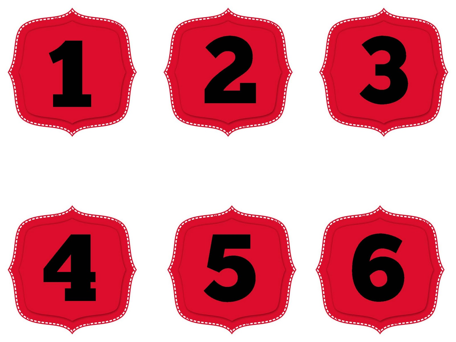 Spanish Numbers 1 30 The smaller red numbers are