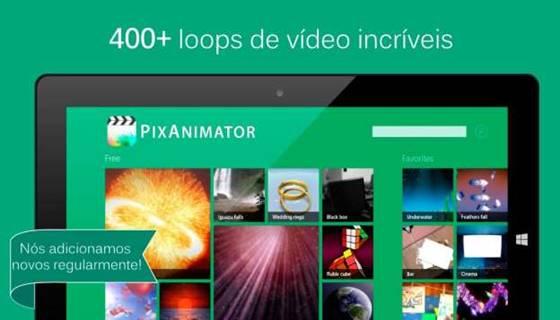 PixAnimator é para quem quer transformar suas imagens em animação simples, colocando suas fotos em loops de vídeos