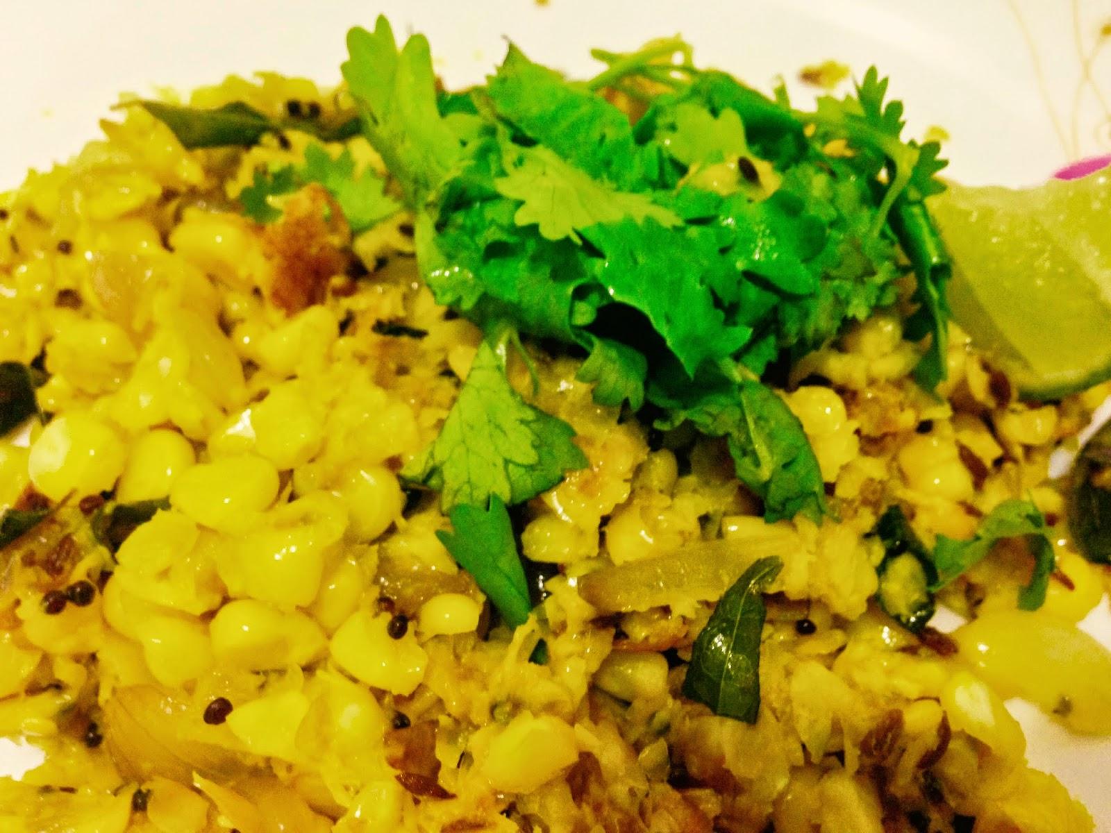 corn upma dish
