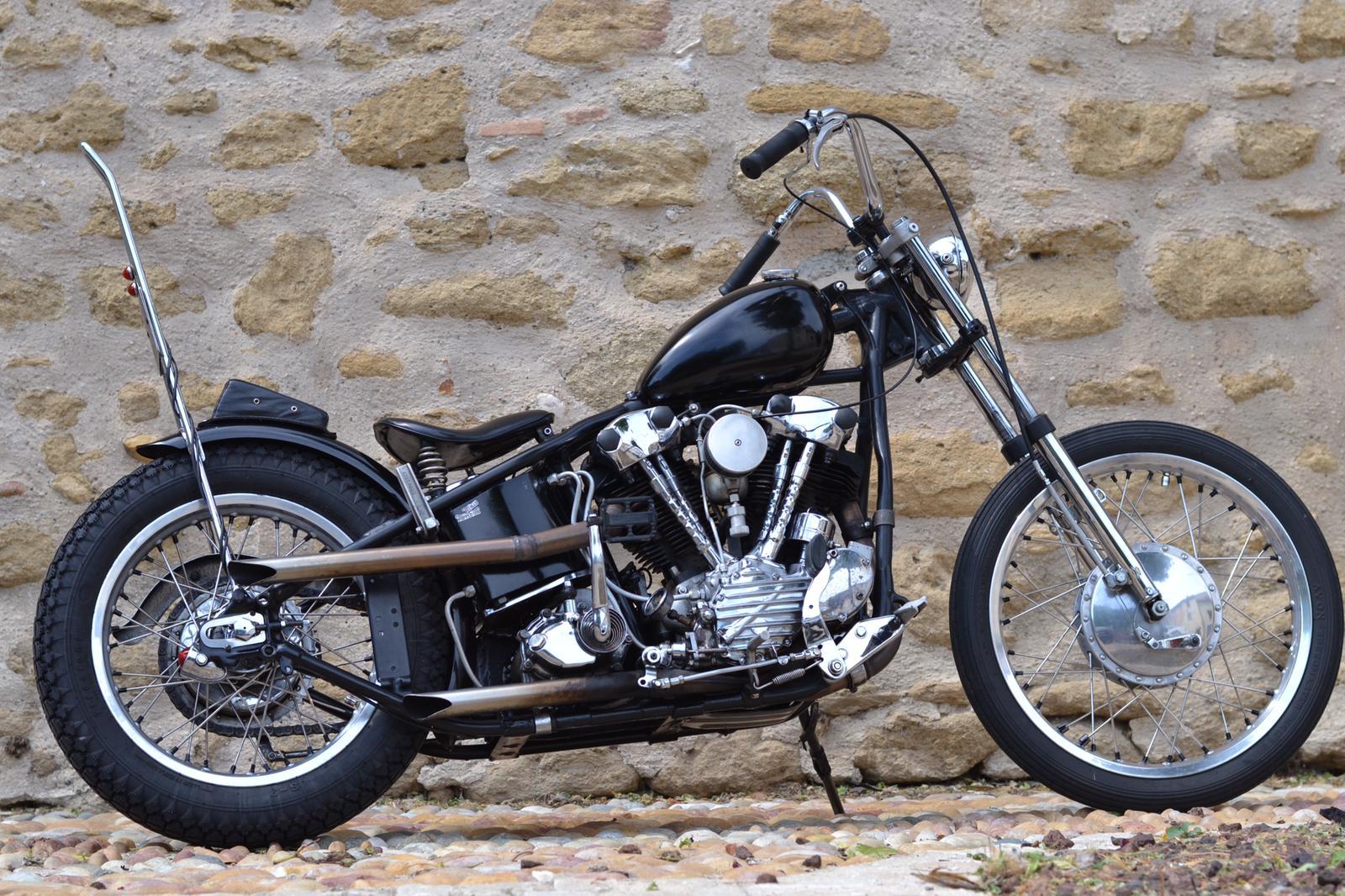 Harley Davidson Knucklehead Chopper 1941