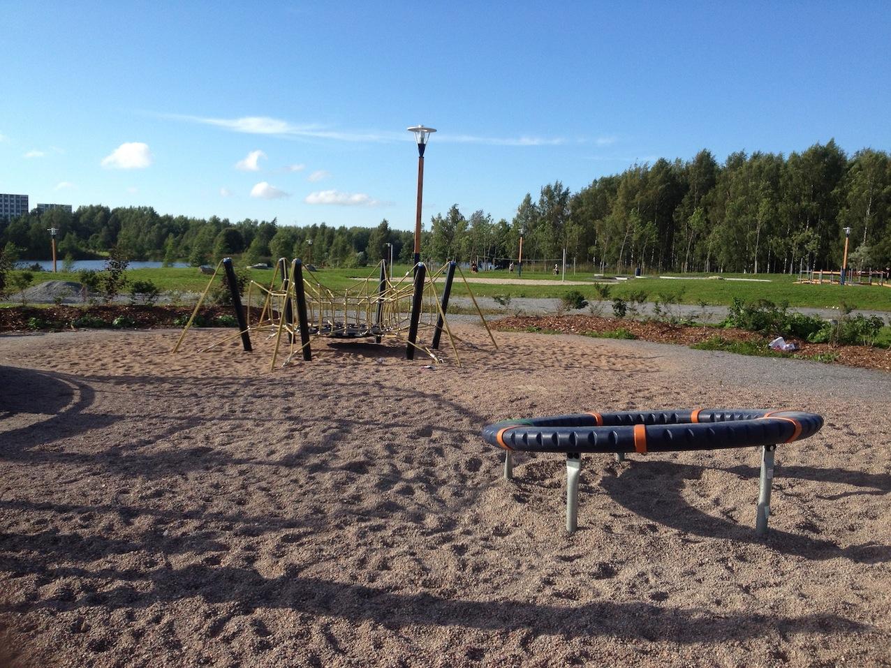 Projekti Leikkipuisto Onkilahden toimintapuiston leikkialue