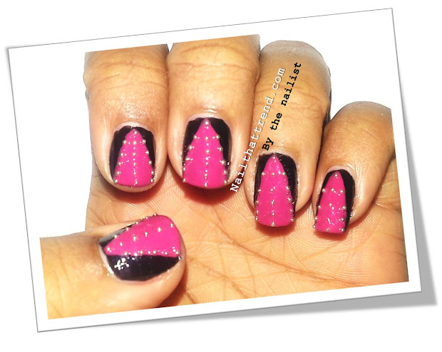 nail trend studded pink party