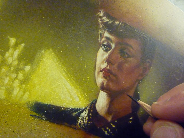 Rachael from Blade Runner, Artwork Copyright © 2013 Jeff Lafferty