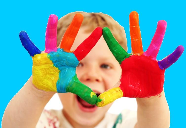Mundo fili como hacer huellas con las manos de ni os - Ninos pintando con las manos ...