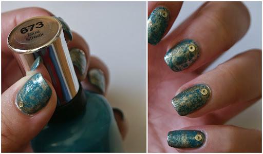 Saran Wrap Nail Art with OPI Glitzerland