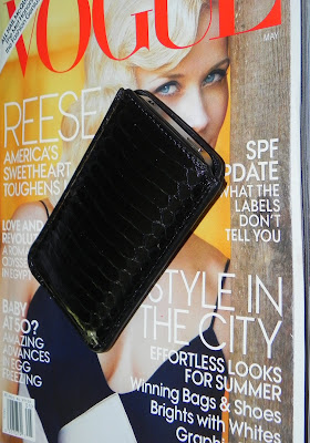 Jimmy Choo Trent Snakeskin iPhone Case