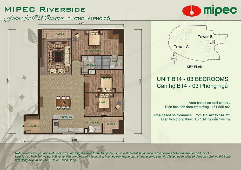 Căn B14 cư xá Mipec Riverside
