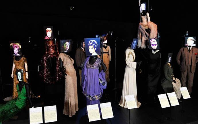 A picture from the Hollywood costumes exhibition in the V&A museum, London