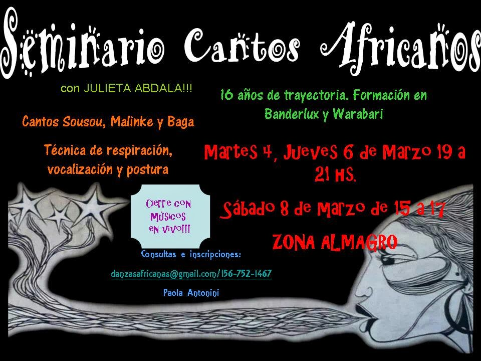 MARZO 2014-CANTOS AFRICANOS CON JULIETA ABDALA