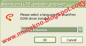 Smartfren EG98 installer language