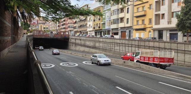 Por obras,  El túnel de Julio Luengo se cerrará en sentido Alcaravaneras