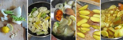 Zubereitung Geschmorter Zitronenfenchel mit Kartoffeln