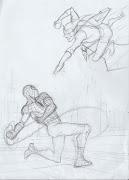 Preliminar de Pasqual Ferry para portada de Spiderman. en 18:08 ferry