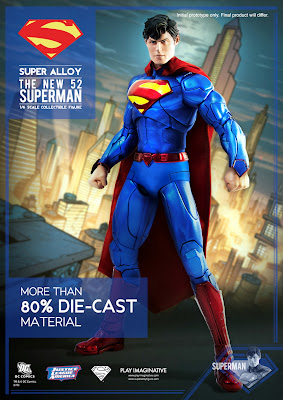 "Play Imaginative SDCC 2013 Exclusive 12"" Super Alloy Superman Figure"