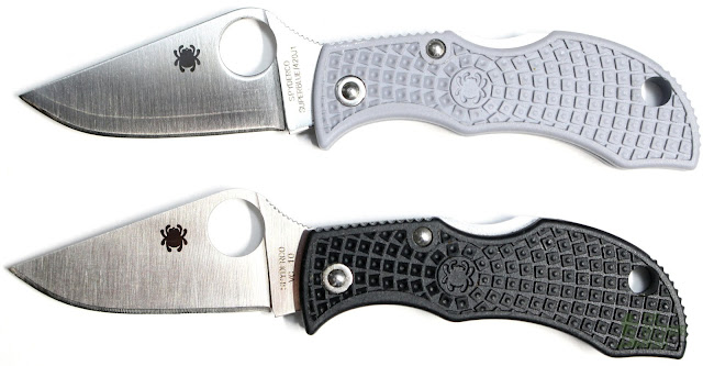 Spyderco Super Blue Manbug Pocket Knife - Twins 2