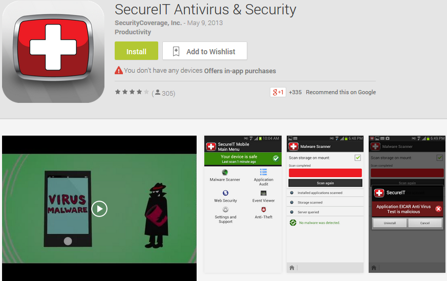 Aplikasi Android yang Wajib - ScureIT Antivirus & Security