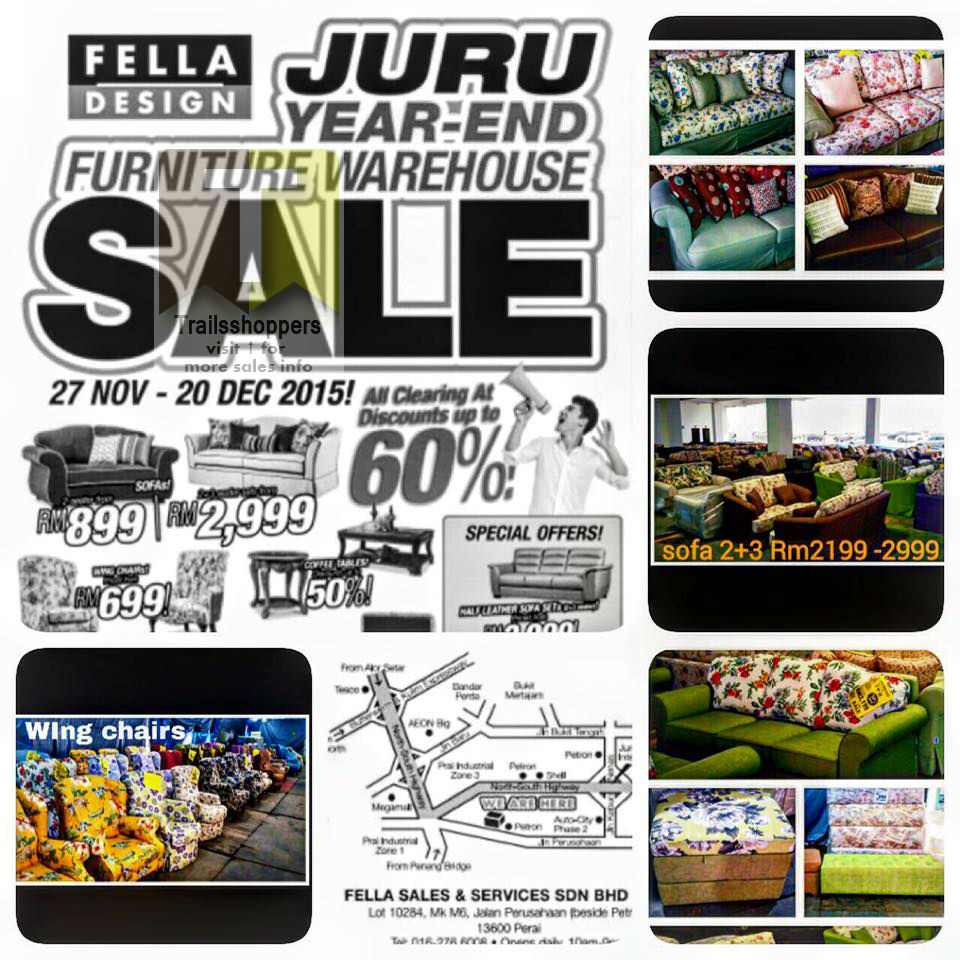 Fella Design Urban Culture Year End Warehouse Sale furniture juru
