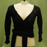 Black Wrap Around Sweater