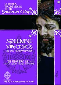 cartel via-crucis union de hermandades de jerez 2015