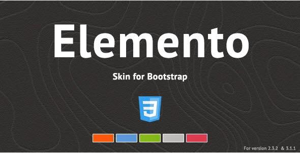 Elemento - Bootstrap Skin
