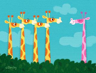 Dibujo jirafas.