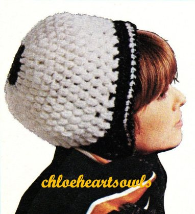 The Vintage Pattern Files Free 1960's Crochet Pattern A Hat with Stripes