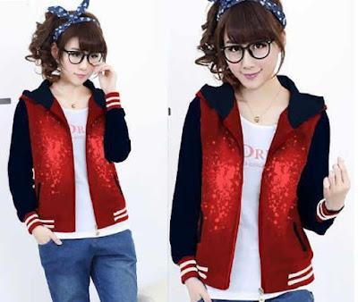 Jacket / Sweater Jaket Sporty Bercak Hoodie - 10258