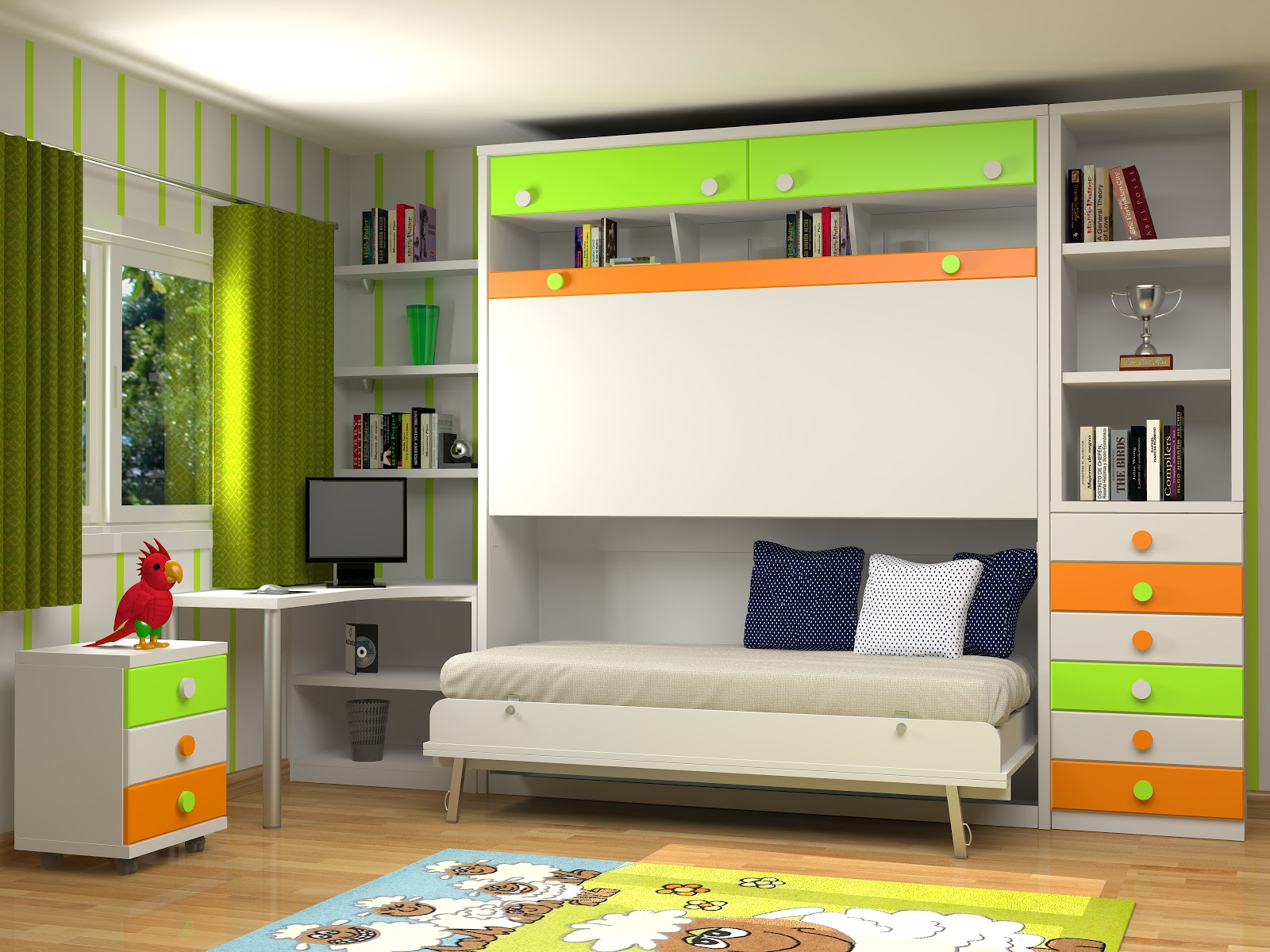 Muebles juveniles dormitorios infantiles y habitaciones - Camas dobles infantiles para espacios reducidos ...